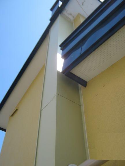 外壁部集合煙突トタン包み