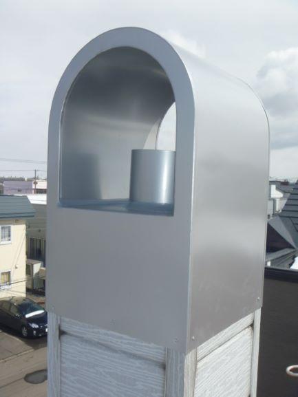 R型集合煙突トタン包み